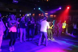 Concert-goers enjoying the show