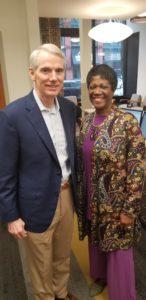 Senator Portman and Barbara Simmons